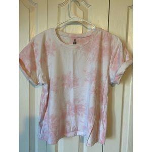 PACSUN Pink Tie Dye T-Shirt